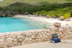 Plage grande de Knip en le Curaçao chez les Antilles néerlandaises image libre de droits