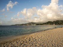 Plage grande Grenada la Caraïbe d'Anse Image libre de droits