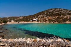 Plage grecque Photo libre de droits