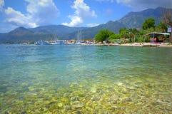 Plage grecque d'île Photos libres de droits