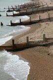 Plage Groynes de Brighton photos stock