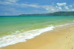 Plage Hainan Sanya Yalong Bay de mer de sud de la Chine Image libre de droits