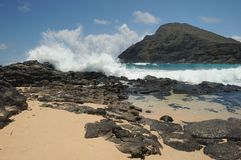 Plage Hawaï de Makapuu Images stock