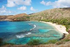 Plage hawaïenne de prise Photos stock