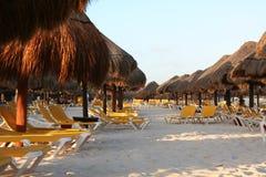 Plage iberostar de lindo de Maya du Mexique la Riviera Photographie stock libre de droits
