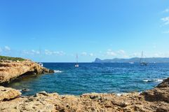 Plage Ibiza, Cala Bassa, Espagne Image libre de droits
