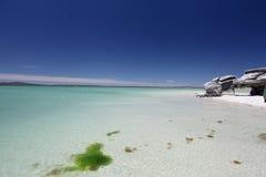 plage idyllique Images libres de droits