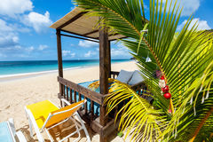 Plage idyllique chez les Caraïbe Image stock