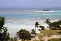 Plage II de l'île du palomino Images libres de droits