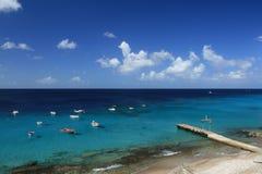 Plage impeuplée de Westpunt du Curaçao. Photos stock