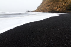 Plage Islande de Vik Photographie stock