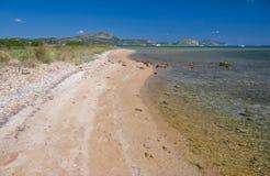 plage Italie sarde photo stock