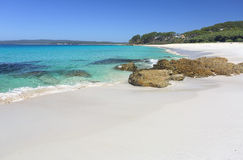 Plage Jervis Bay de Chinamans un paradis photographie stock libre de droits