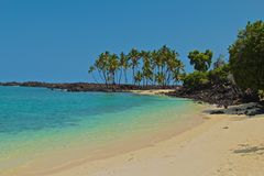 Plage Kekaha Kai Hawaii Photo stock