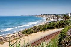 Plage la Californie de Del Mar Images libres de droits