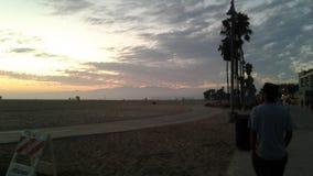 plage la Californie Venise Image libre de droits