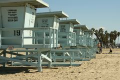 plage la Californie Venise Photo libre de droits