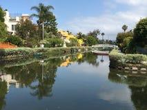 plage la Californie Venise Photo stock