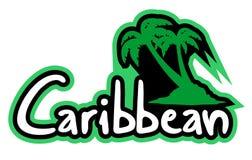 Plage la Caraïbe Photo stock