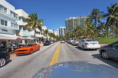 plage la Floride Miami du sud image stock