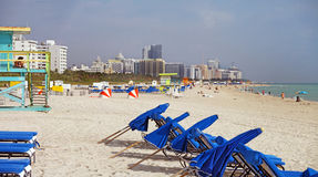 plage la Floride Miami du sud images stock