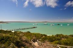 Plage à la lagune de Langebaan - parc national de côte ouest, Afrique du Sud Photos stock