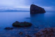Plage la Mer Noire Crimée fiolent Photos stock
