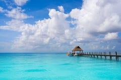 Plage la Riviera Maya Mexico d'île de Cozumel photo stock