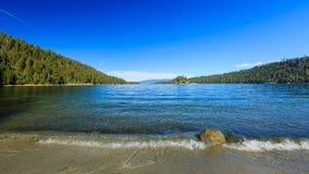 Plage, le lac Tahoe Photo libre de droits
