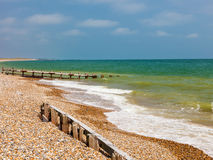 Plage le Sussex occidental Angleterre de Climping photos stock
