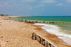 Plage le Sussex occidental Angleterre de Climping photos libres de droits