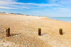 Plage le Sussex occidental de Pagham Image stock