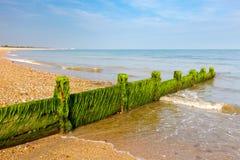 Plage le Sussex occidental de Pagham Images libres de droits