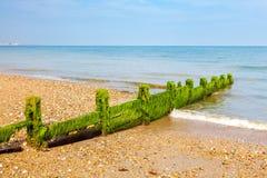 Plage le Sussex occidental de Pagham Photos libres de droits