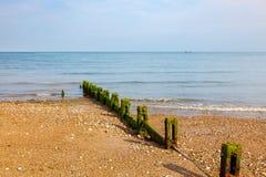 Plage le Sussex occidental de Pagham Photos stock