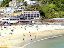 Plage, Looe, les Cornouailles. Photos stock