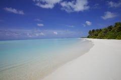 Plage Maldives de sable Photographie stock libre de droits