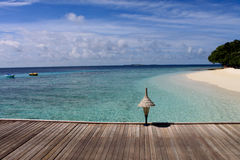 Plage maldivienne Photo stock