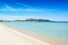 Plage merveilleuse en Majorque Photos libres de droits