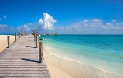 Plage Mexique de la Riviera Maya Maroma Caribbean images libres de droits