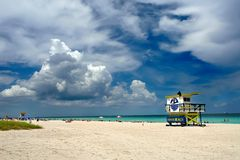 plage Miami du sud Photos stock