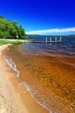 Plage Michigan de Gogebic de lac photo libre de droits