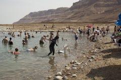 Plage minérale, mer morte, Israël Photos libres de droits