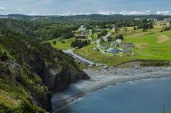 Plage moyenne de crique, Terre-Neuve, Canada Photos libres de droits