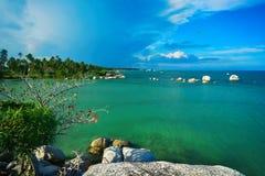 Plage Natuna2 de l'île Indonésie Images libres de droits