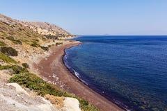Plage Nisyros de désert Photos stock