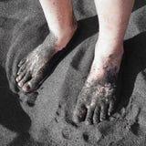 Plage noire Photographie stock libre de droits