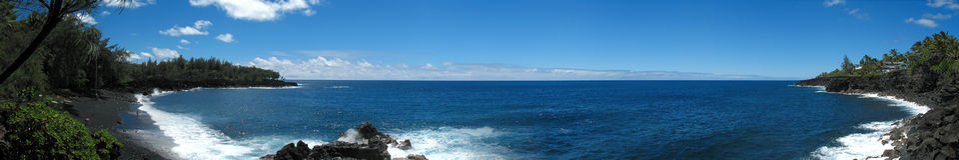 Plage noire Hawaï de sable Photographie stock libre de droits
