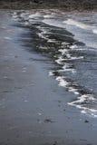 Plage noire, Lorneville, Nouveau Brunswick, dans le Canada atlantique images libres de droits