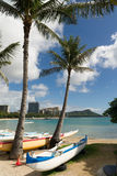 Plage Oahu Hawaï Diamond Head de Waikiki de l'océan pacifique de bord de la mer Image stock